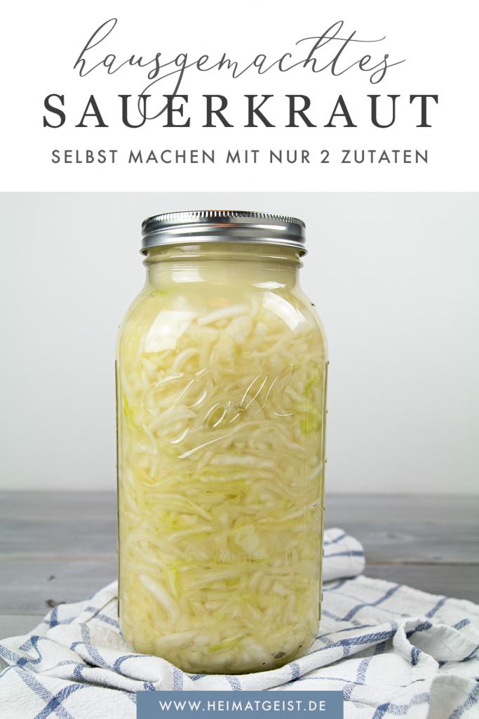 Hausgemachtes Sauerkraut selbst machen mit nur zwei Zutaten